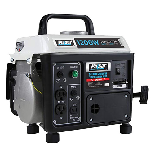 Pulsar 1200W Portable Gas-Powered Generator